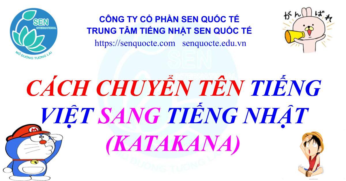Cách chuyển tên tiếng Việt sang tiếng Nhật